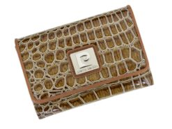 Pierre Cardin Women Leather Purse Medium Size Beige-6161
