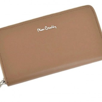 Pierre Cardin Women Leather Wallet with Zip Blue-5135