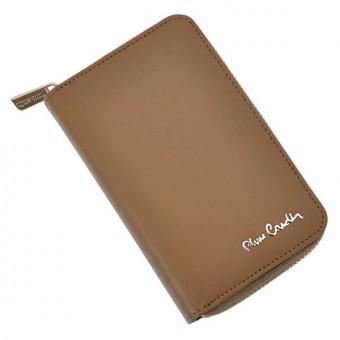 Pierre Cardin Women Leather Wallet with Zip Claret-5936