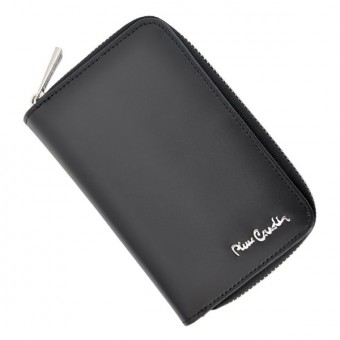 Pierre Cardin Women Leather Wallet with Zip Claret-5946