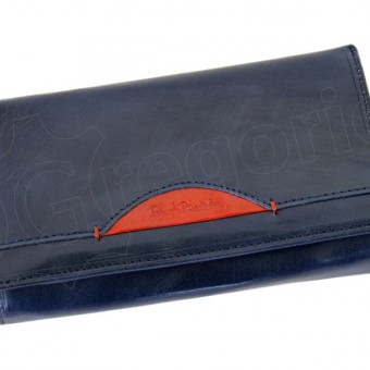 Renato Balestra Leather Women Purse/Wallet Blue Orange-5536
