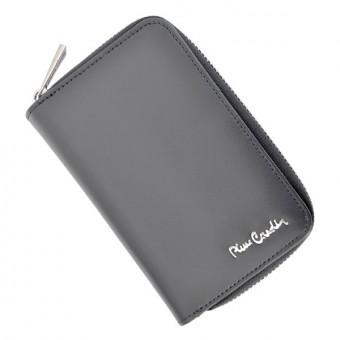 Pierre Cardin Women Leather Wallet with Zip Claret-5940