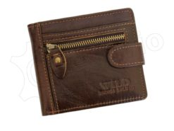 Wild Things Only Unique Leather Wallet Brown-4375