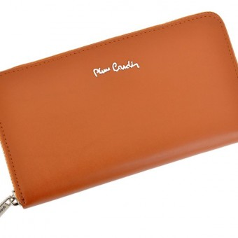 Pierre Cardin Women Leather Wallet with Zip Blue-5123