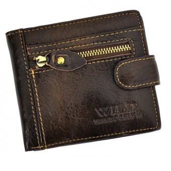 Wild Things Only Unique Leather Wallet Brown-4371