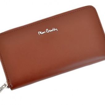 Pierre Cardin Women Leather Wallet with Zip Blue-5134