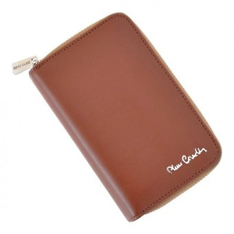 Pierre Cardin Women Leather Wallet with Zip Claret-5941