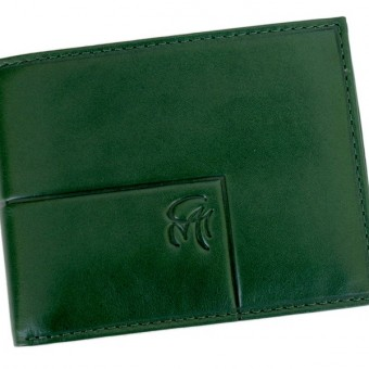 Gai Mattiolo Man Leather Wallet with coin pocket Green-6373