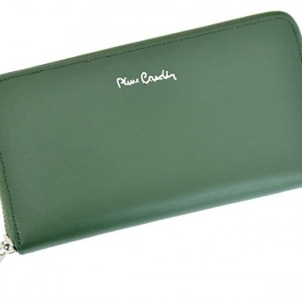 Pierre Cardin Women Leather Wallet with Zip Blue-5129