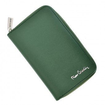 Pierre Cardin Women Leather Wallet with Zip Claret-5938