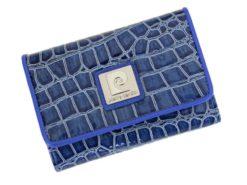 Pierre Cardin Women Leather Purse Medium Size Blue-6142