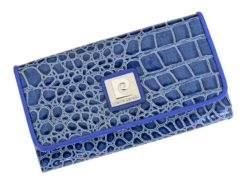 Pierre Cardin Women Leather Purse Blue-6079