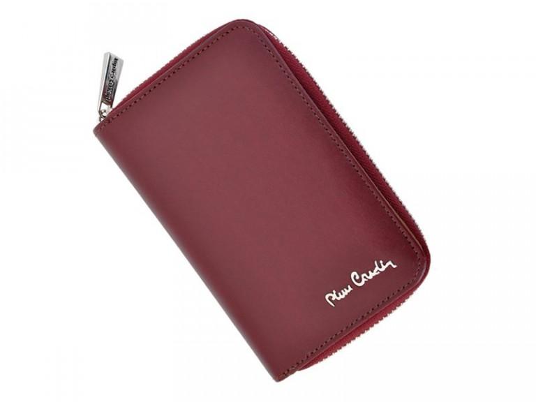 Pierre Cardin Women Leather Wallet with Zip Claret-5945