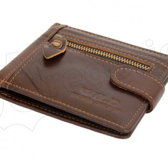 Wild Things Only Unique Leather Wallet Brown-4380