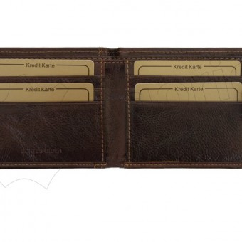 Wild Things Only Unique Leather Wallet Brown-4372