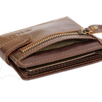 Wild Things Only Unique Leather Wallet Brown-4379