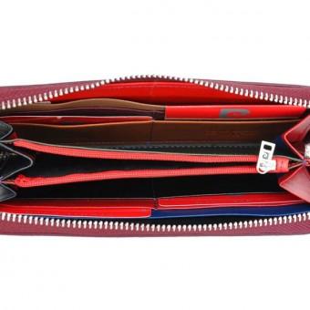 Pierre Cardin Women Leather Wallet with Zip Grey-5114