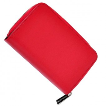 Pierre Cardin Women Leather Wallet with Zip Claret-5944