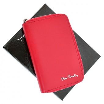 Pierre Cardin Women Leather Wallet with Zip Claret-5935