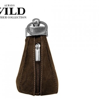 Always Wild Leather Keys Wallet Brown-7078