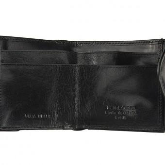 Pierre Cardin Unique Leather wallet small black-7110