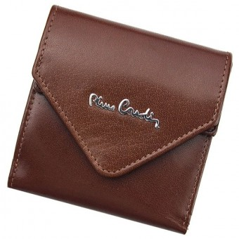 Pierre Cardin Unique Leather wallet small cognac-7246