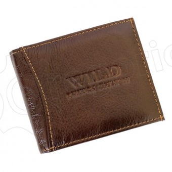 Medium Size Wild Things Only Man Leahter Wallet Brown-7159