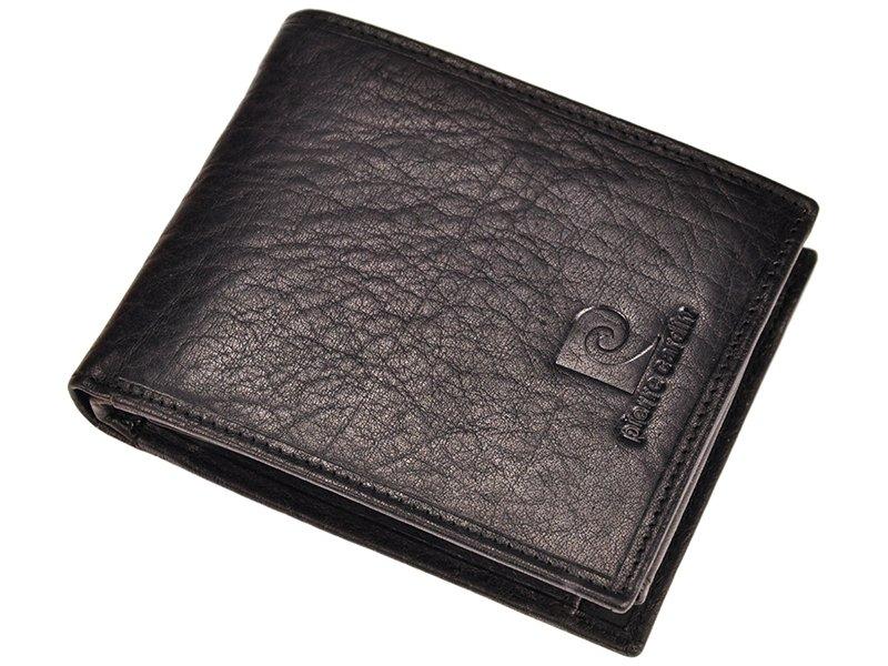 pierre cardin unique leather wallet for men cognac
