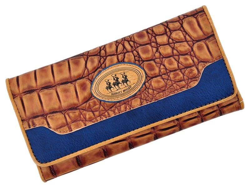 Harvey Miller Polo Club Women Leather Wallet Grey-5310