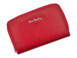 Pierre Cardin Women Leather Wallet with Zip Red-5968