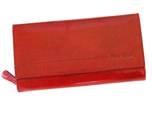 Pierre Cardin Women Leather Wallet/Purse Dark Red-5994