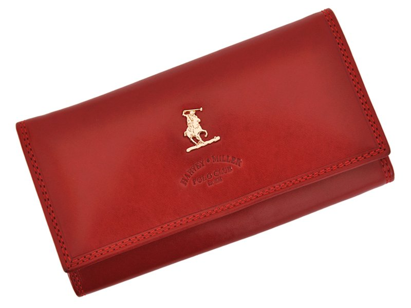 Harvey Miller Polo Club Women Leather Wallet/Purse Brown-5367