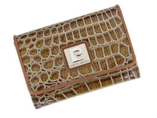 Pierre Cardin Women Leather Purse Medium Size Beige-6161