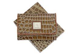 Pierre Cardin Women Leather Purse Medium Size Beige-6160