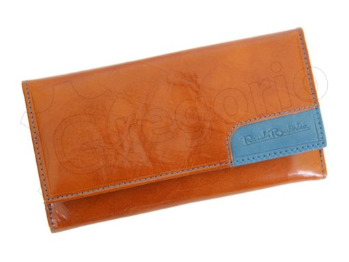 Renato Balestra Leather Women Purse/Wallet Orange Dark Brown-5578