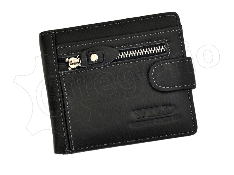Wild Things Only Unique Leather Wallet Brown-4378