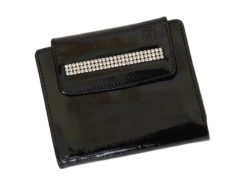 Giovani Woman Leather Wallet Swarovski Line Red-4390