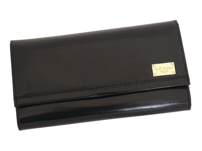 Paolo Bantacci Women Leather Wallet Black-4504