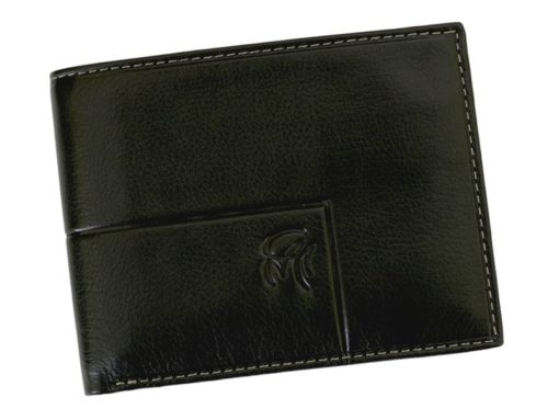 Gai Mattiolo Man Leather Wallet with coin pocket Green-6368