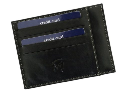 Gai Mattiolo Credit Card Holder Black-4274