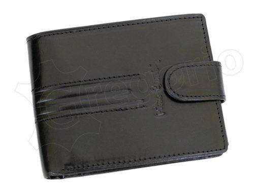 Pierre Cardin Man Leather Wallet Dark Black-4912