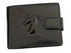Pierre Cardin Man Wallet with Horse Dark Brown-5008