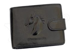 Pierre Cardin Man Leather Wallet with horse Black-5159