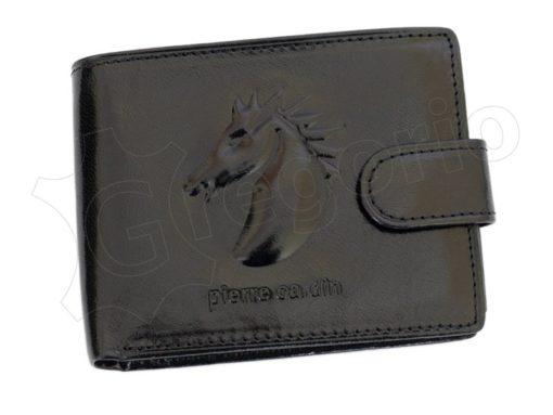 Pierre Cardin Man Wallet with horse Dark Brown-5176