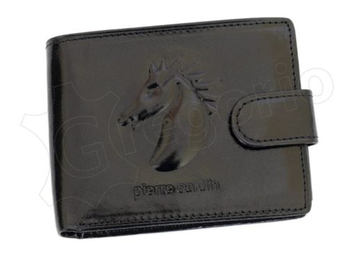 Pierre Cardin Man Leather Wallet with horse Brown-5193