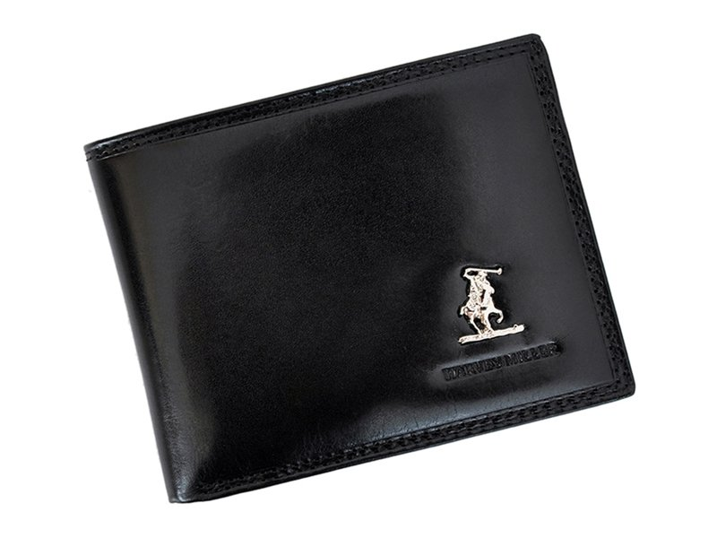 Harvey Miller Polo Club Man Leather Wallet BLack-5289