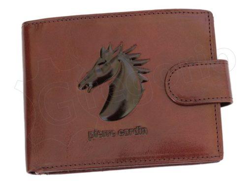 Pierre Cardin Man Wallet with Horse Dark Brown-5005