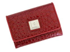 Pierre Cardin Women Leather Purse Medium Size Red-6193
