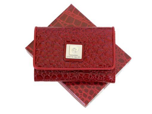Pierre Cardin Women Leather Purse Medium Size Red-6179