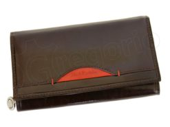 Renato Balestra Leather Women Purse/Wallet Dark Brown Orange-5507